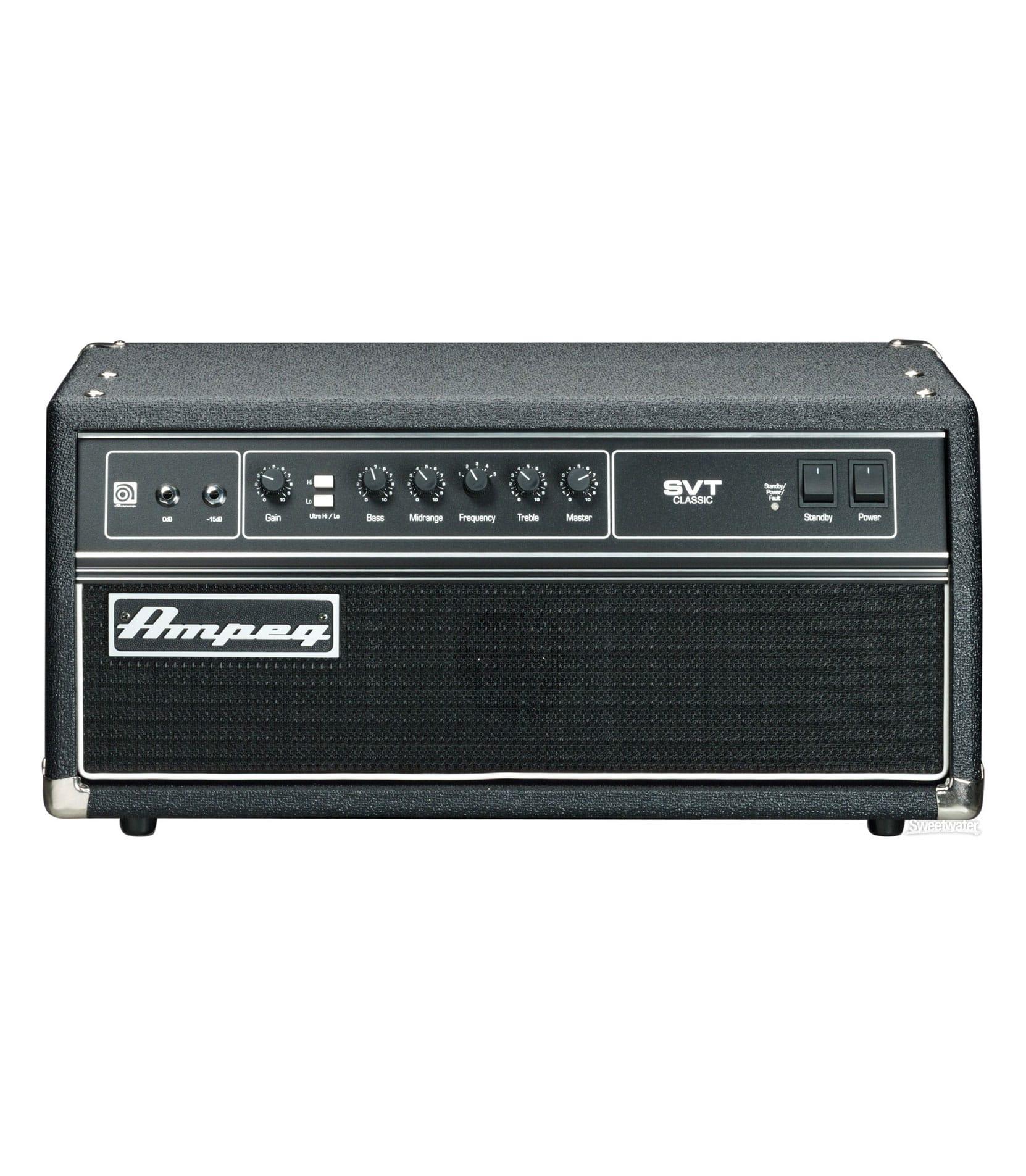 buy ampeg svt cl 300 watt classic bass head all tube