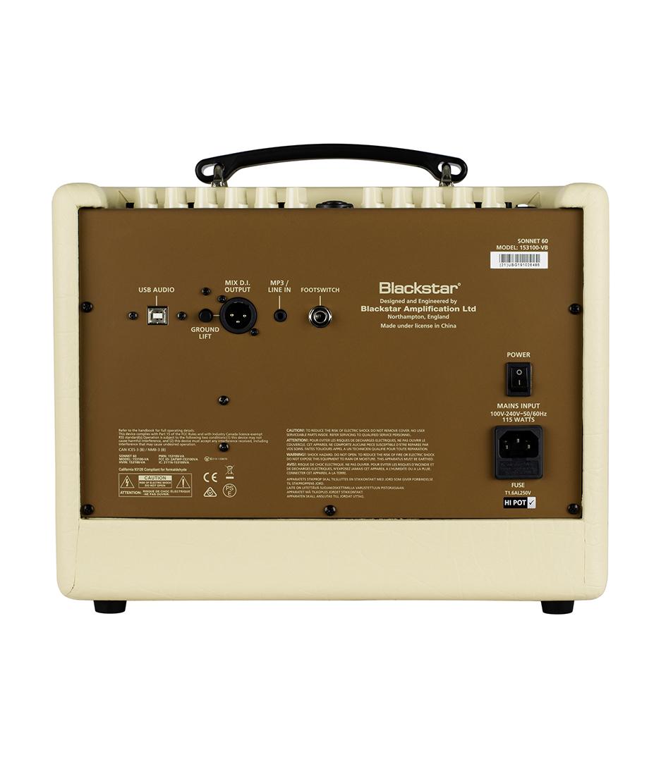Blackstar - BA153004 Sonnet 60 60W 1x65 1x1 Acoustic Amp - Melody House