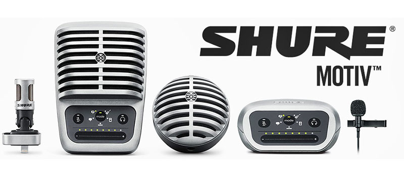 Shure's Portable MOTIV Series  - Melody House