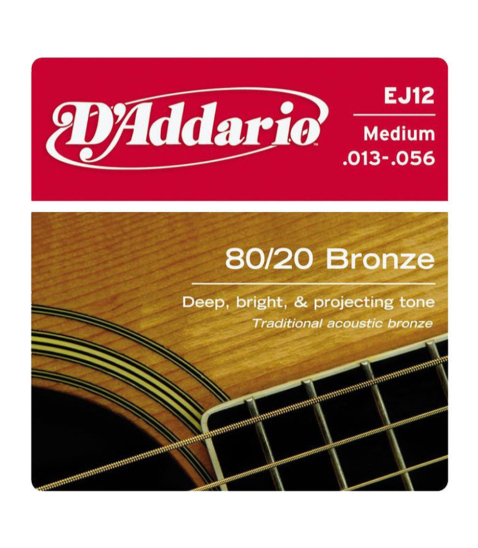 D'Addario - 8020 Bronze Acoustic Guitar Strings Medium 13 56 - Melody House Musical Instruments