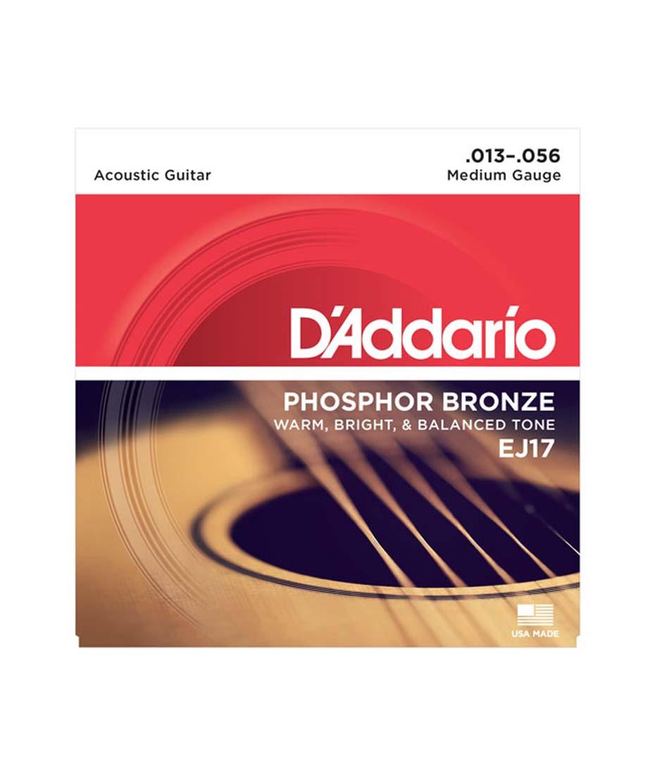 Buy d'addario Phosphor Bronze Acoustic Guitar Strings 13 56 Melody House