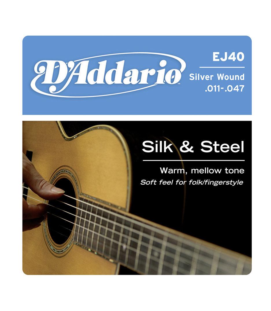 buy d'addario ej40 silk steel folk guitar 11 47
