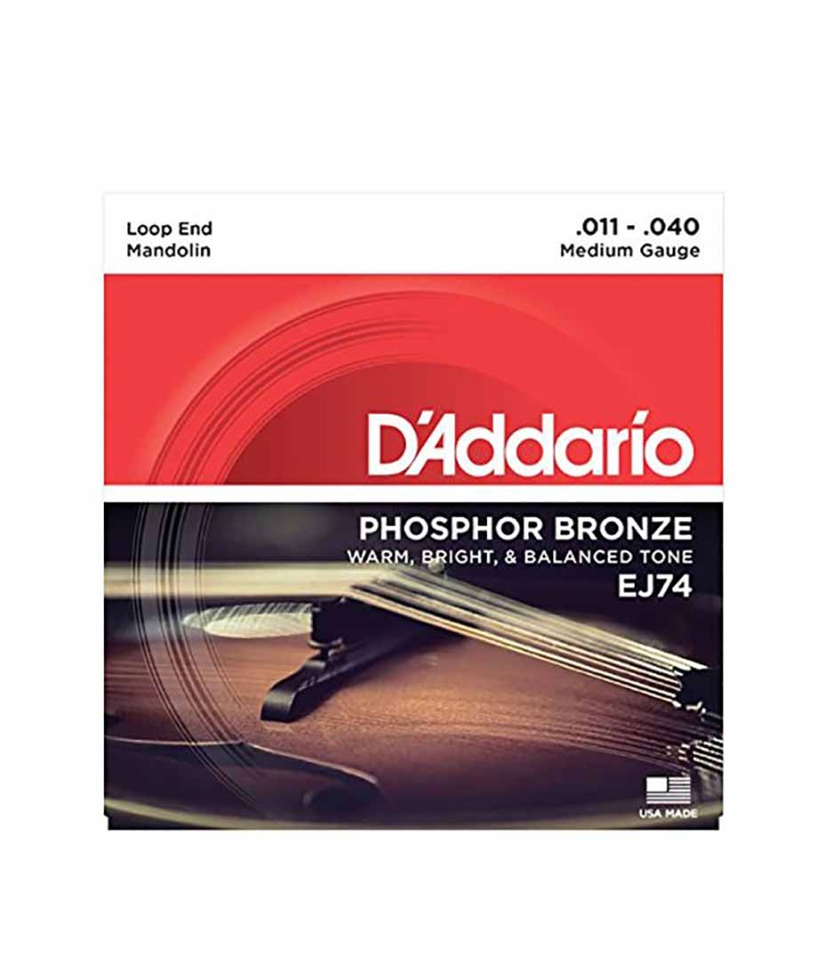 Buy d'addario EJ74 SET MANDOLIN PHOS BRZ MED Melody House