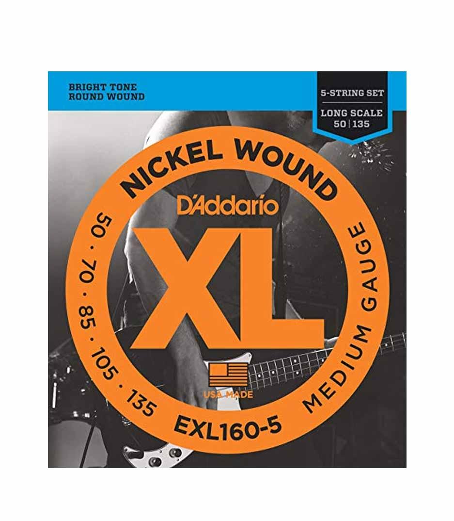 Buy d'addario EXL160 5SET BASS XL 50 135 LONG 5 STR Melody House