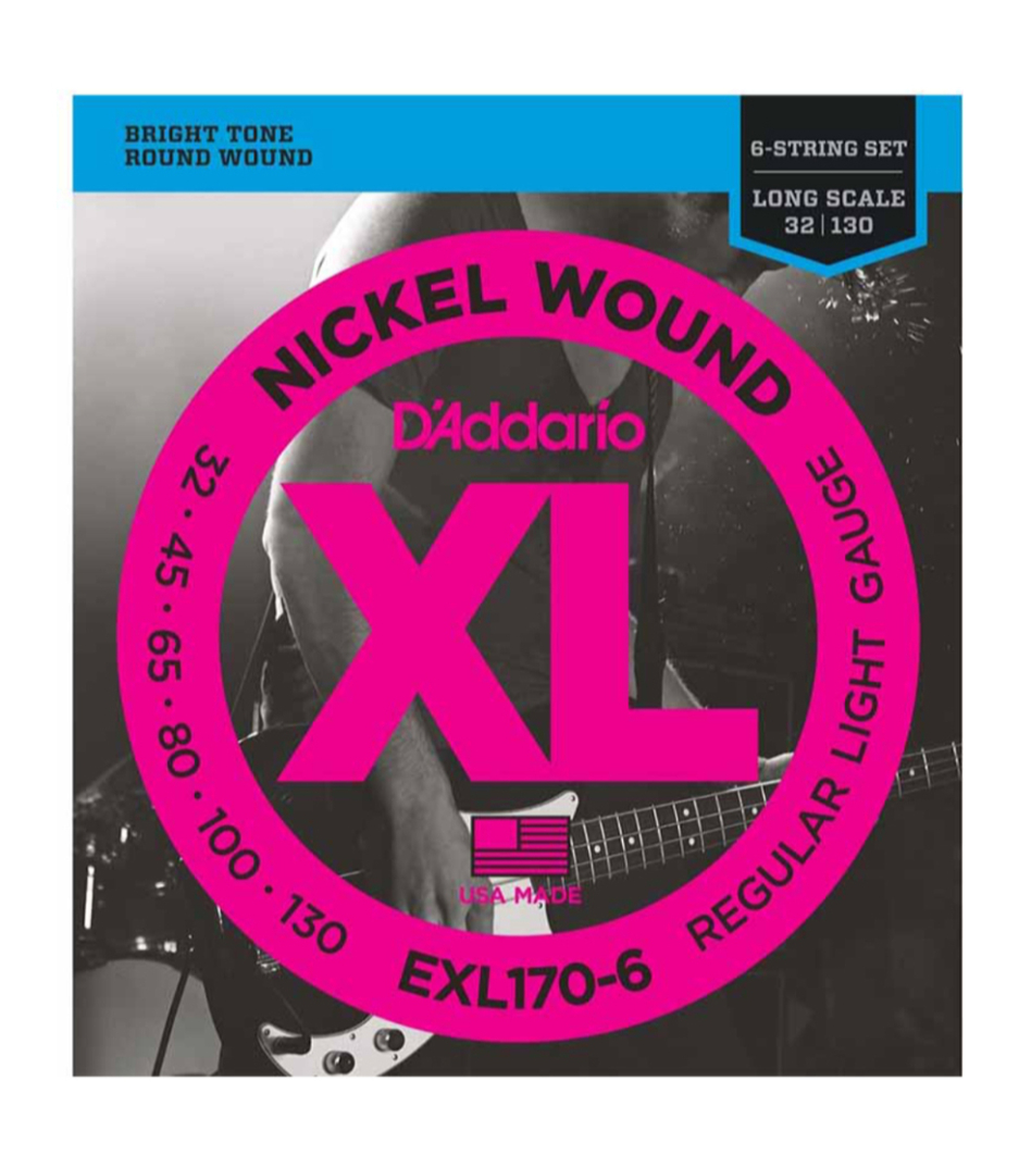 D'Addario - EXL170 6 SET BASS XL 32 130 LONG 6STR