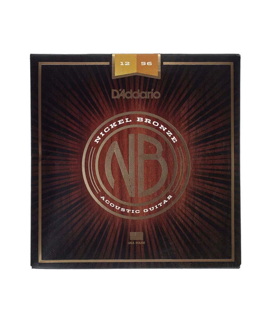 Buy d'addario Nickel Bronze Acoustic Guitar Strings 12 56 Melody House