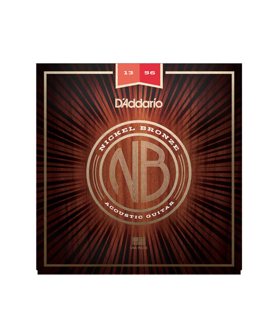 D'Addario - Nickel Bronze Acoustic Guitar Strings Medium 13 56 - Melody House Musical Instruments