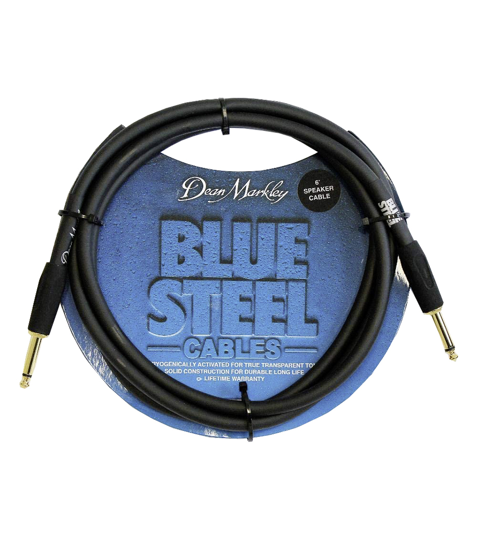 Dean Markley - 6FT Speaker Cable Blue Woven Cryogenically Treat