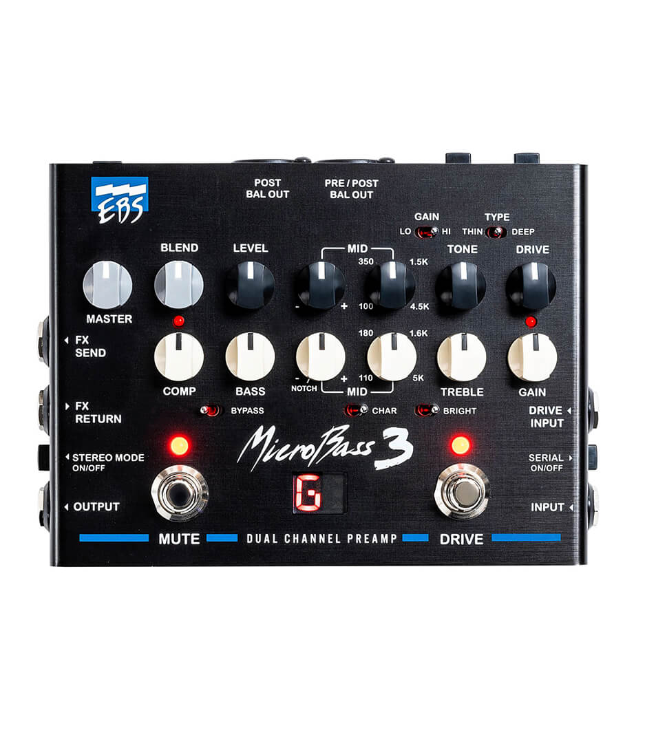 EBS - 400702 EBS MB3 MicroBass 3 Professional Preamp