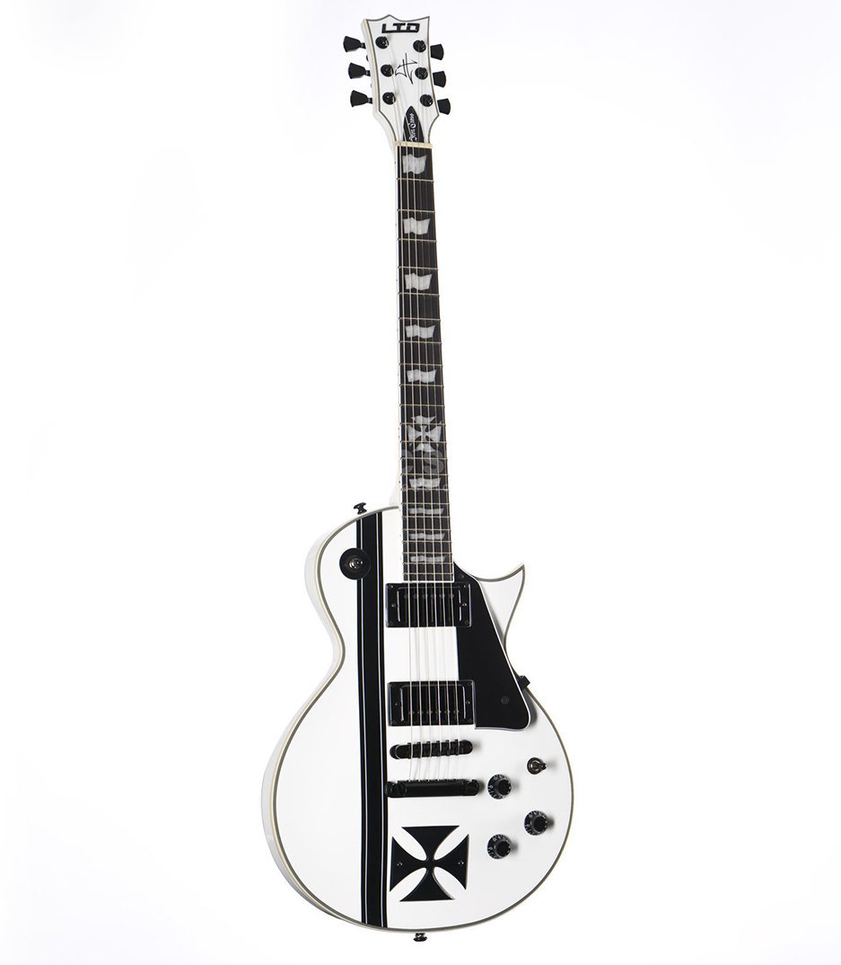 Buy esp LTD James Hetfield Iron Cross Snow White Melody House