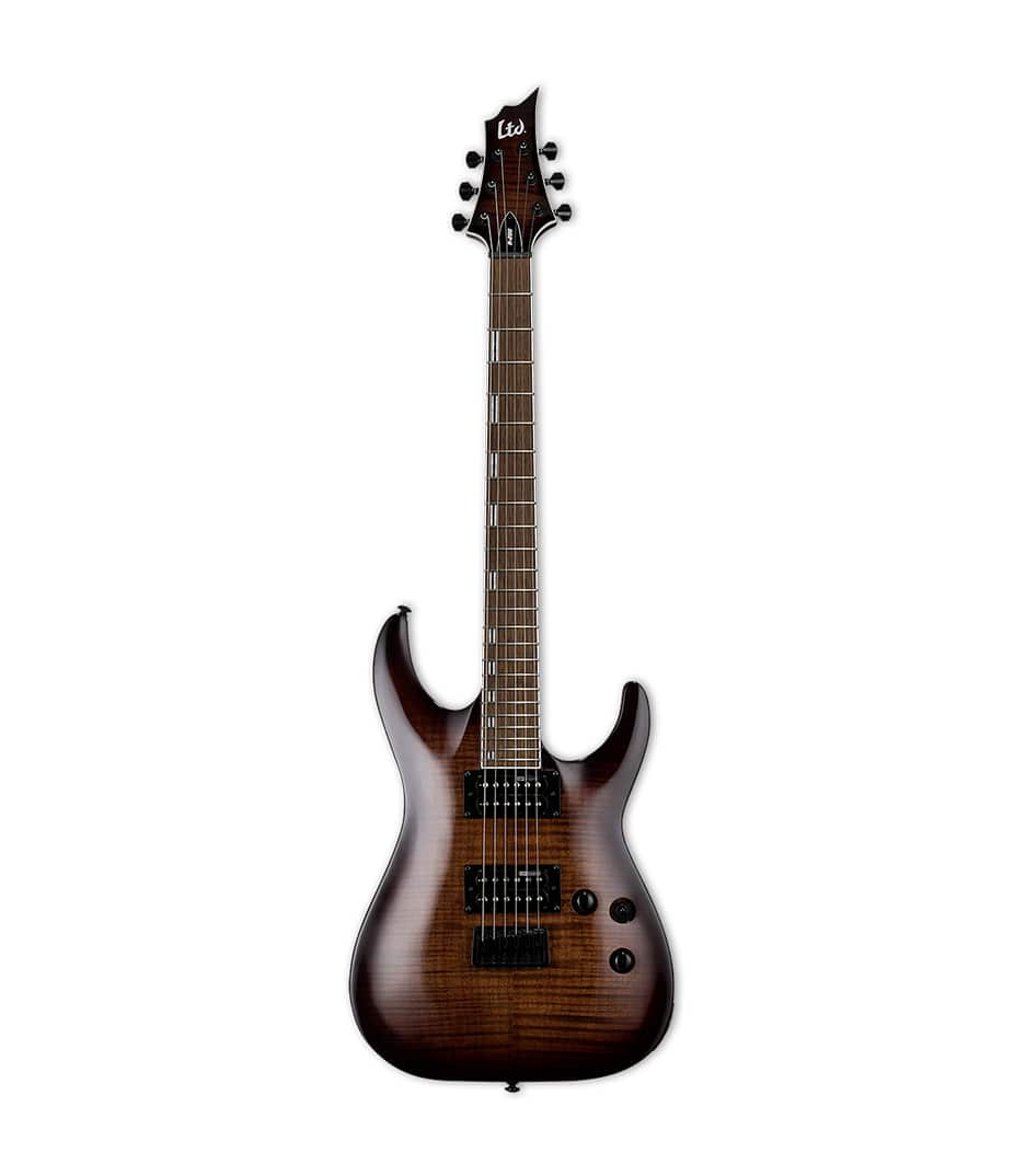 Buy ESP - LTD H200 Series Flammed Malpe Dark Brown Sunburst