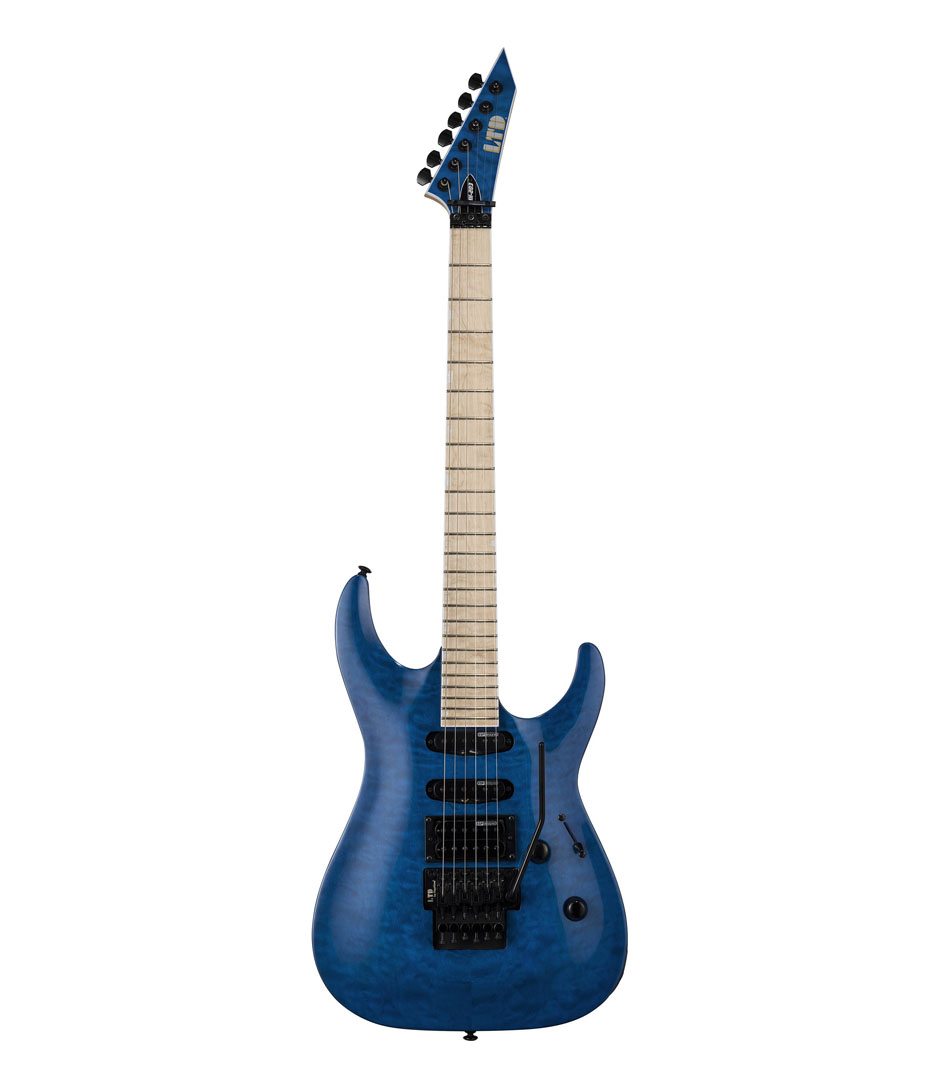 ESP - LTD MH203 Series Quilted Maple SeeThru Blue Finish