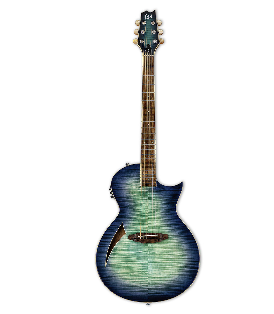 buy esp ltl6fmaqmb ltd tl 6 thinline acoustic guitar aqua