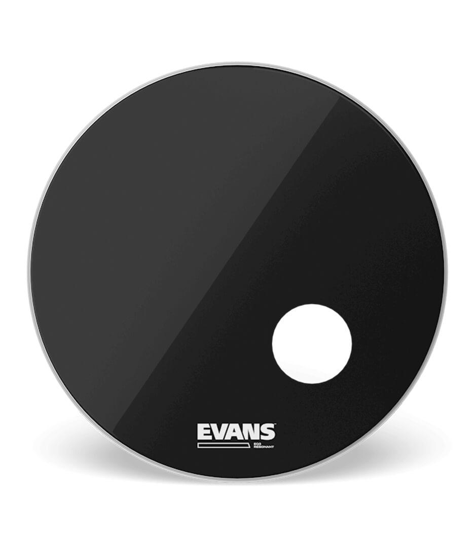 buy evans bd22rb bass drumhead eq3 resonant black 1 play siz