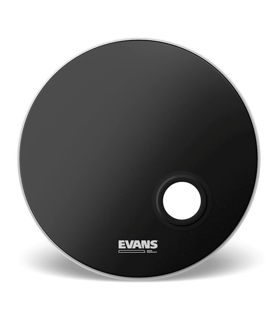 buy evans bd22remad bass drumhead emad reso black 1 play siz