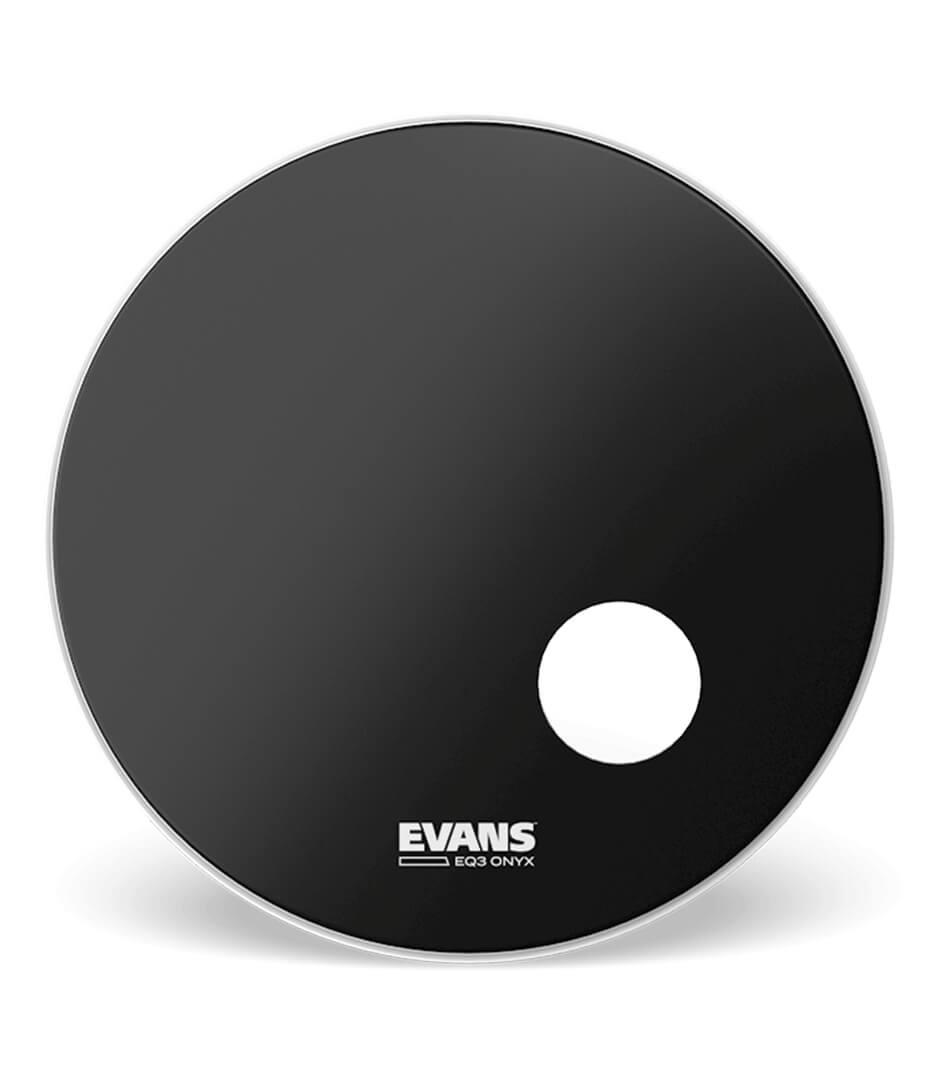 buy evans bd22ronx bass drumhead onyx resonant 1 play size