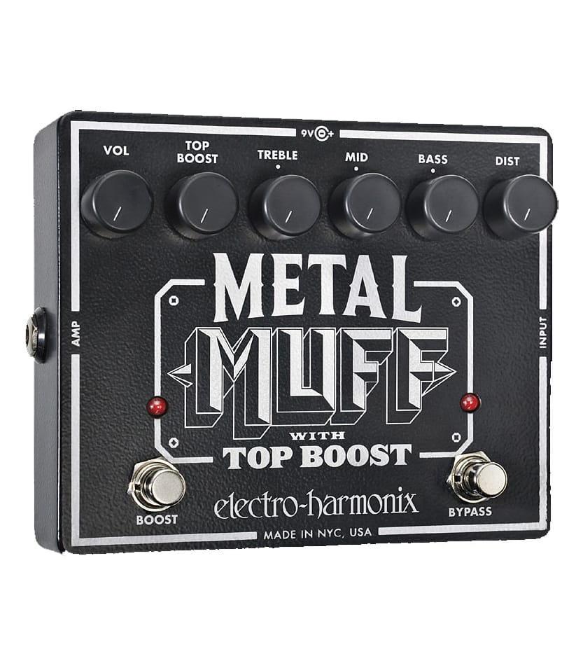 buy electroharmonix metal muff distortion pedal with top boost
