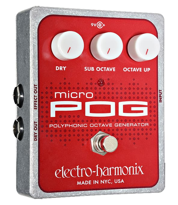 buy electroharmonix micro pog polyphonic octave generator pedal