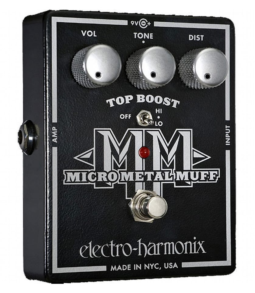 buy electroharmonix micro metal muff distortion pedal with top boost