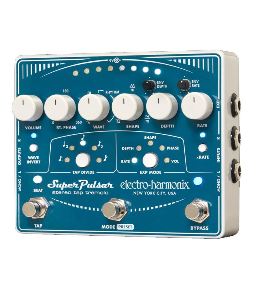 Buy electro harmonix Super Pulsar Stereo Tap Tremolo Pedal Melody House