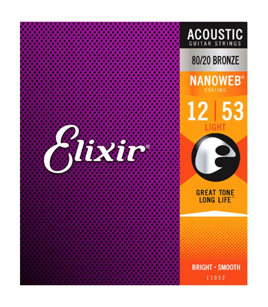 Elixir - 11052 Acoustic Guitar Strings Nanoweb Coating 80 2