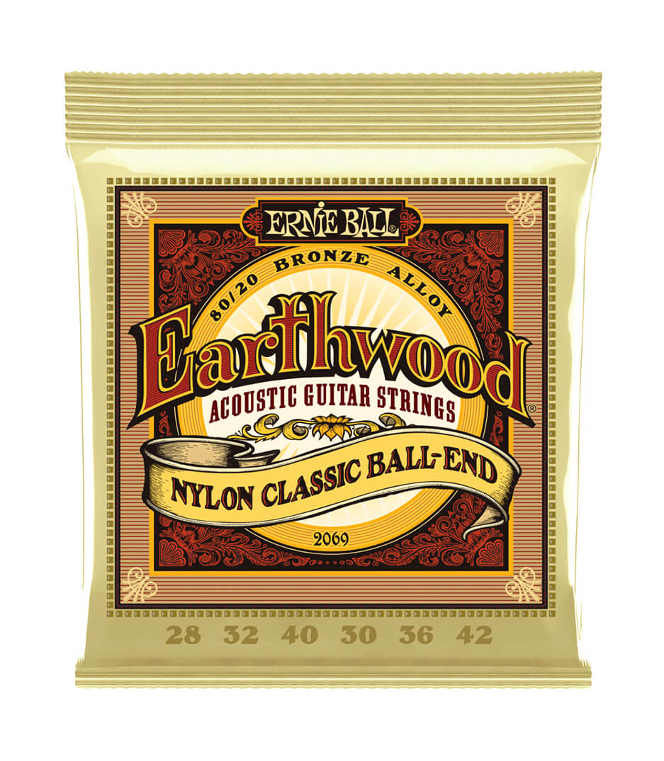 buy ernieball 2069 nylon clasic guitar strings earthwood ball en