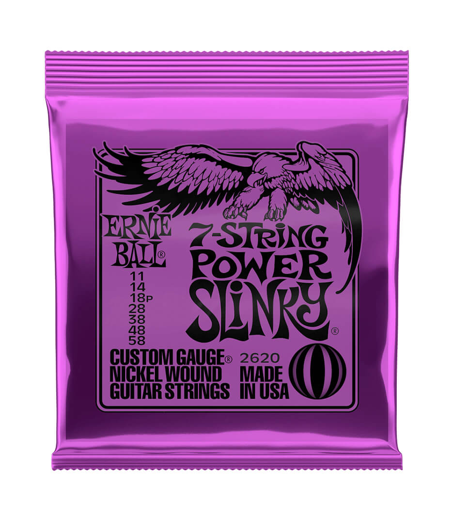 Ernie Ball - 2620 Electric Guitar 7 Strings Power Slinky Nickel