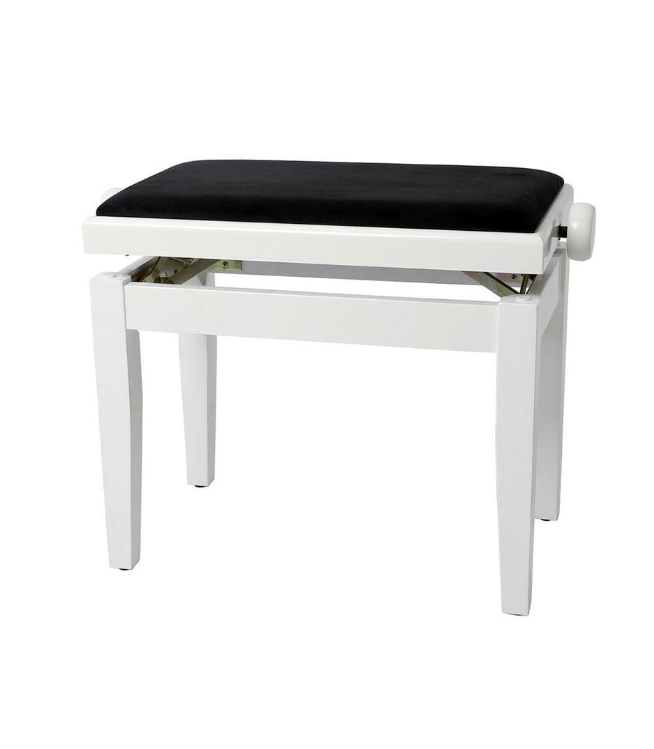 buy gewa piano bench deluxe white high gloss
