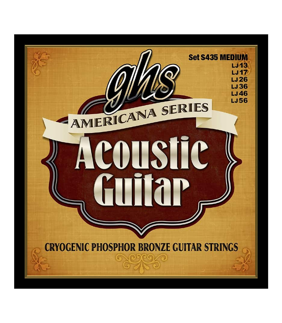 GHS - S435 AMERICANA ACOUSTIC GUITAR MEDIUM - Melody House Musical Instruments