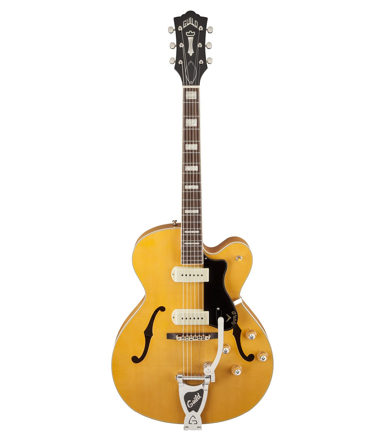 Guild - X 175B Manhattan Hollow Body Blonde Finish