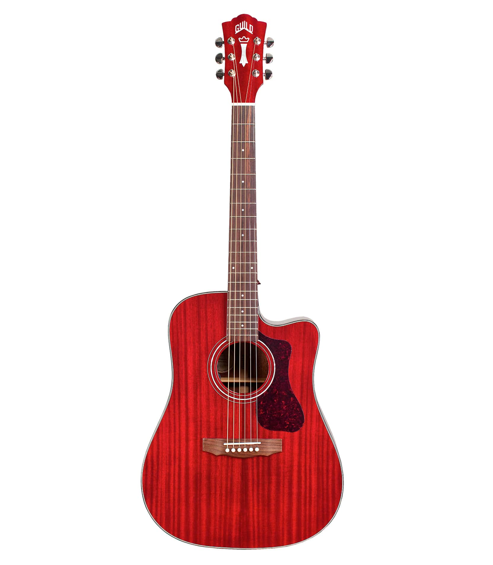 Guild - D120CRCE Dreadnought Cutaway Acoustic Cherry Red