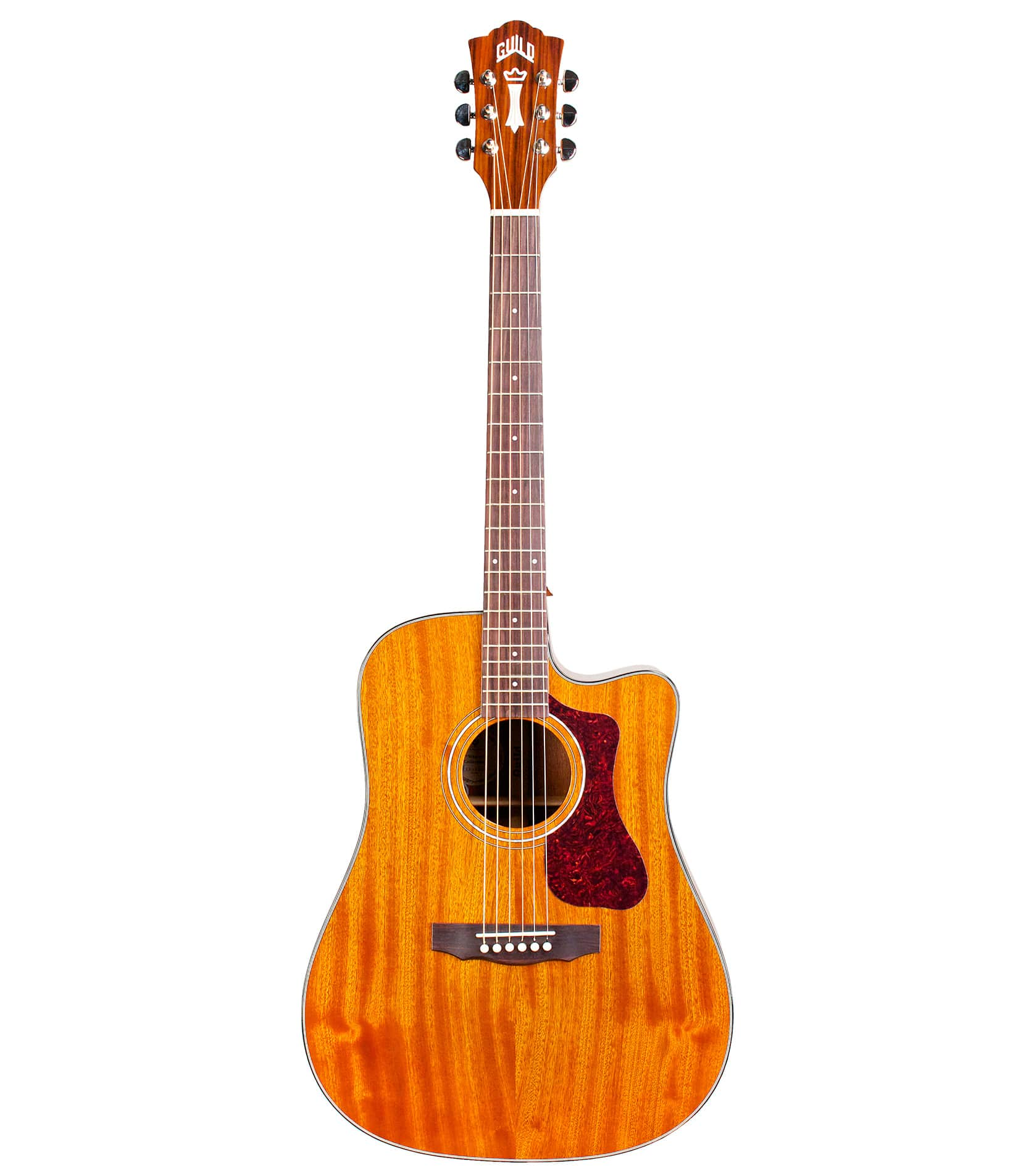 Buy guild - D120NCE Dreadnought Cutaway Acoustic Natural Finis