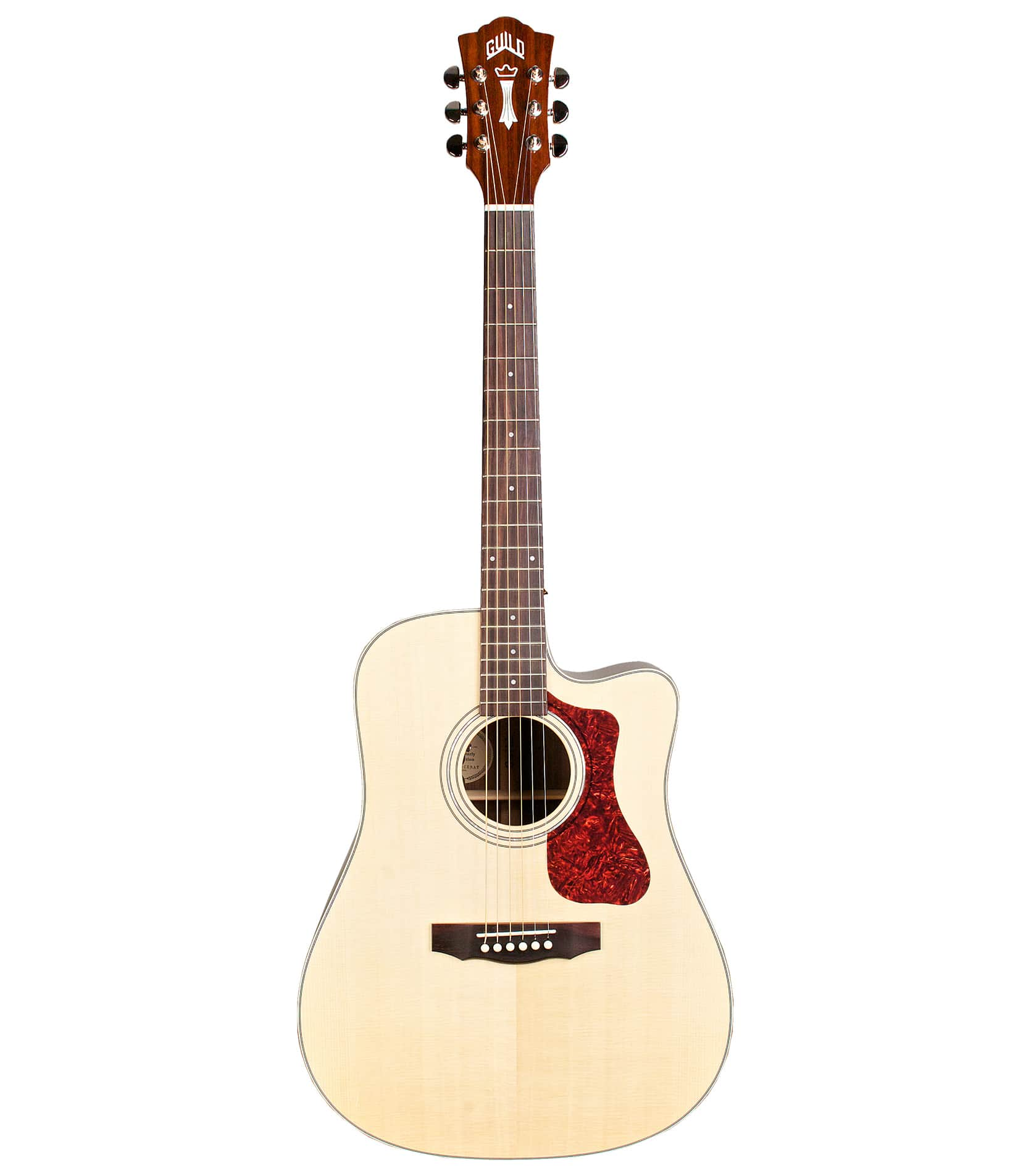 Buy guild - D150NCE Dreadnought Cutaway Acoustic Natural Finis