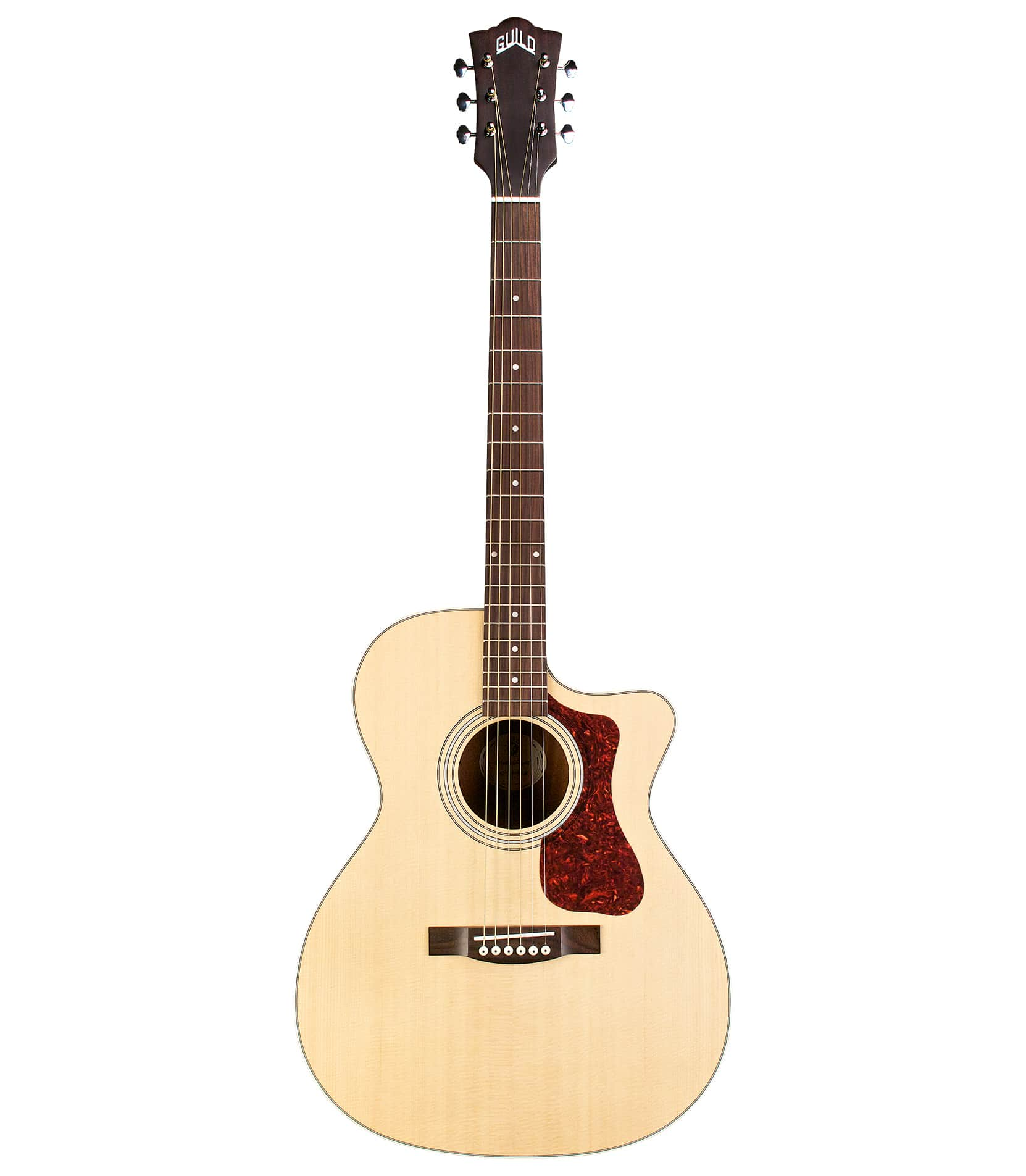 Buy guild - OM240CE Orchestra Cutaway Acoustic Natural Finish