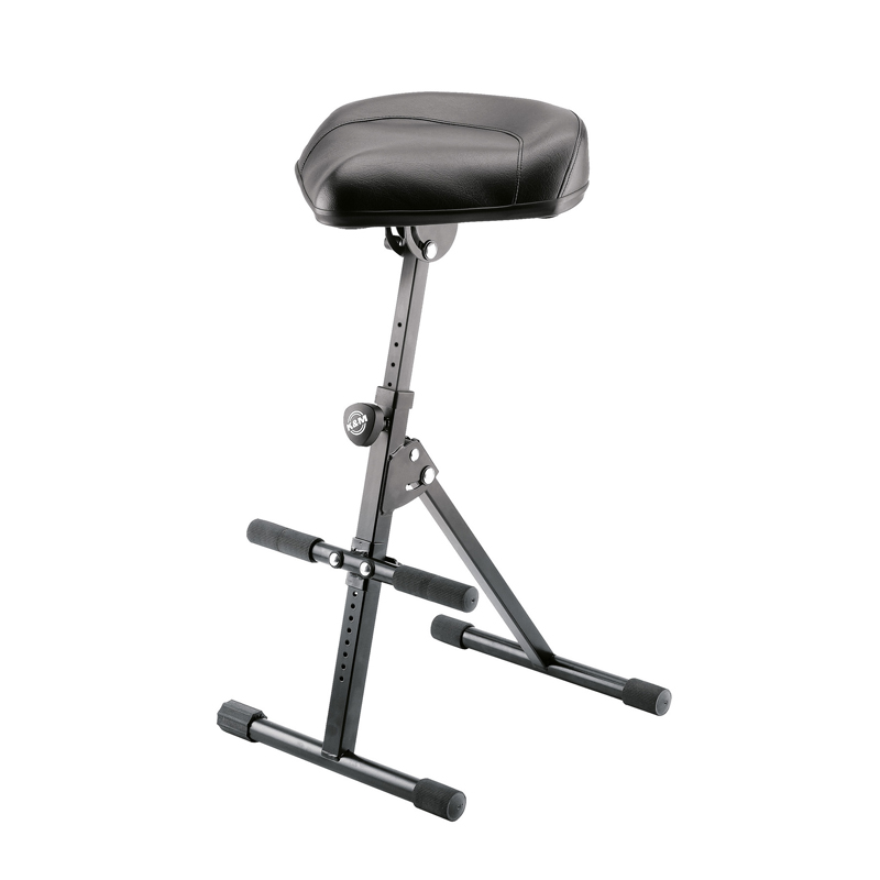 Buy K&M - Black Imitation leather Stool