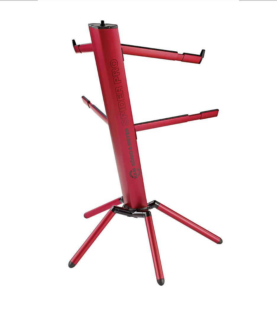 K&M - 18860 000 36 Keyboard stand Spider Pro red - Melody House