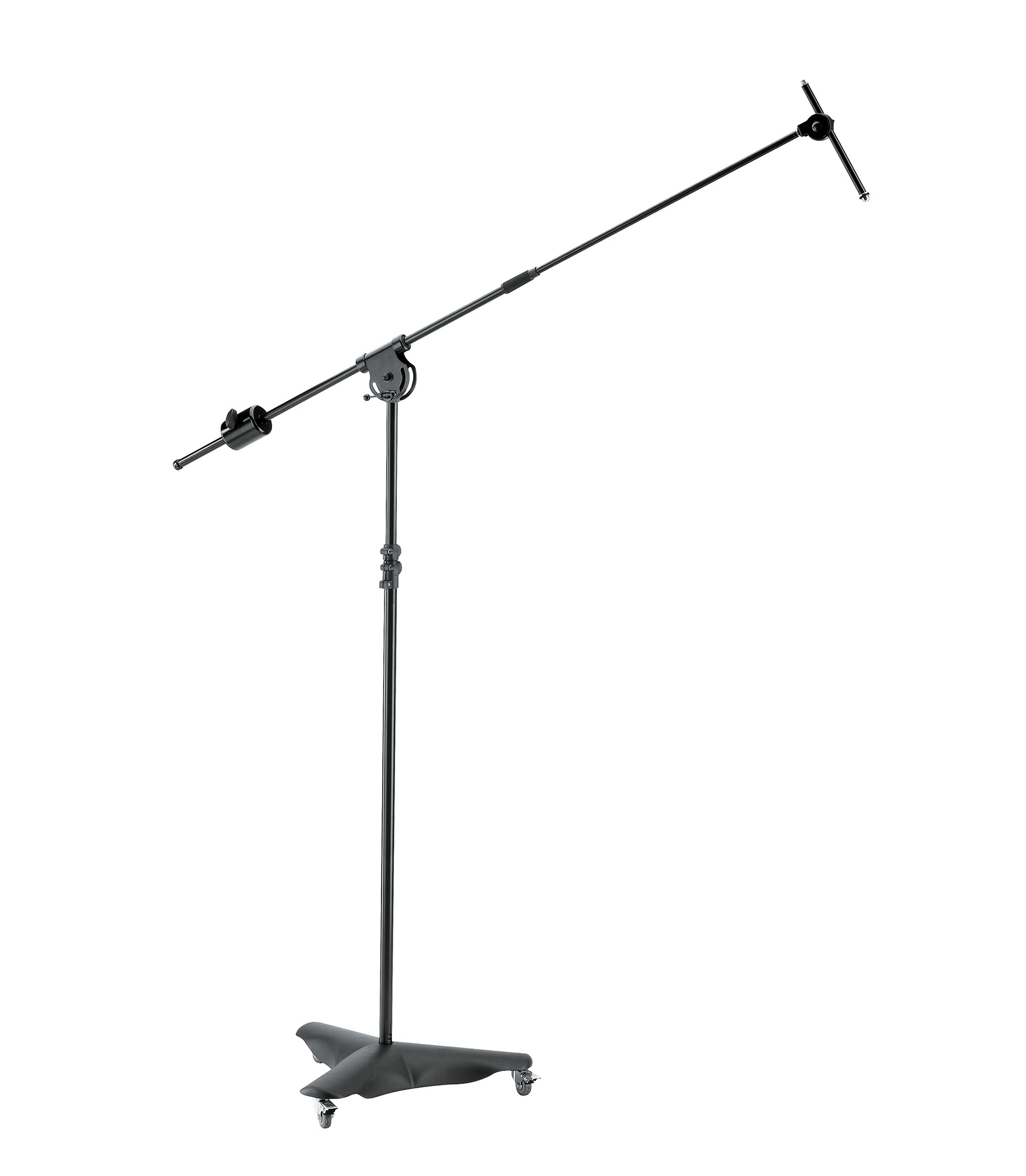 buy k&m 21430 500 55 overhead microphone standblack