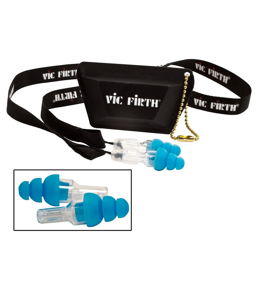 buy vicfirth high fidelity hearing protection regular size blue