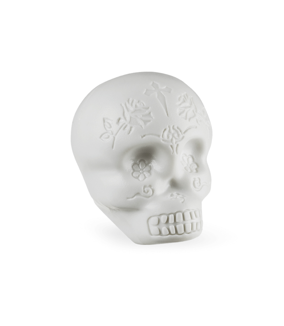 LP - LP006 GLO SUGAR SKULL SHAKER GLOW IN THE DARK - Melody House Musical Instruments