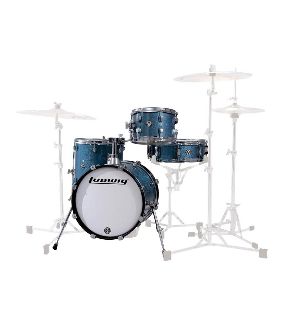 Ludwig - Breakbeats by Questlove Azure Sparkle Finish - Melody House