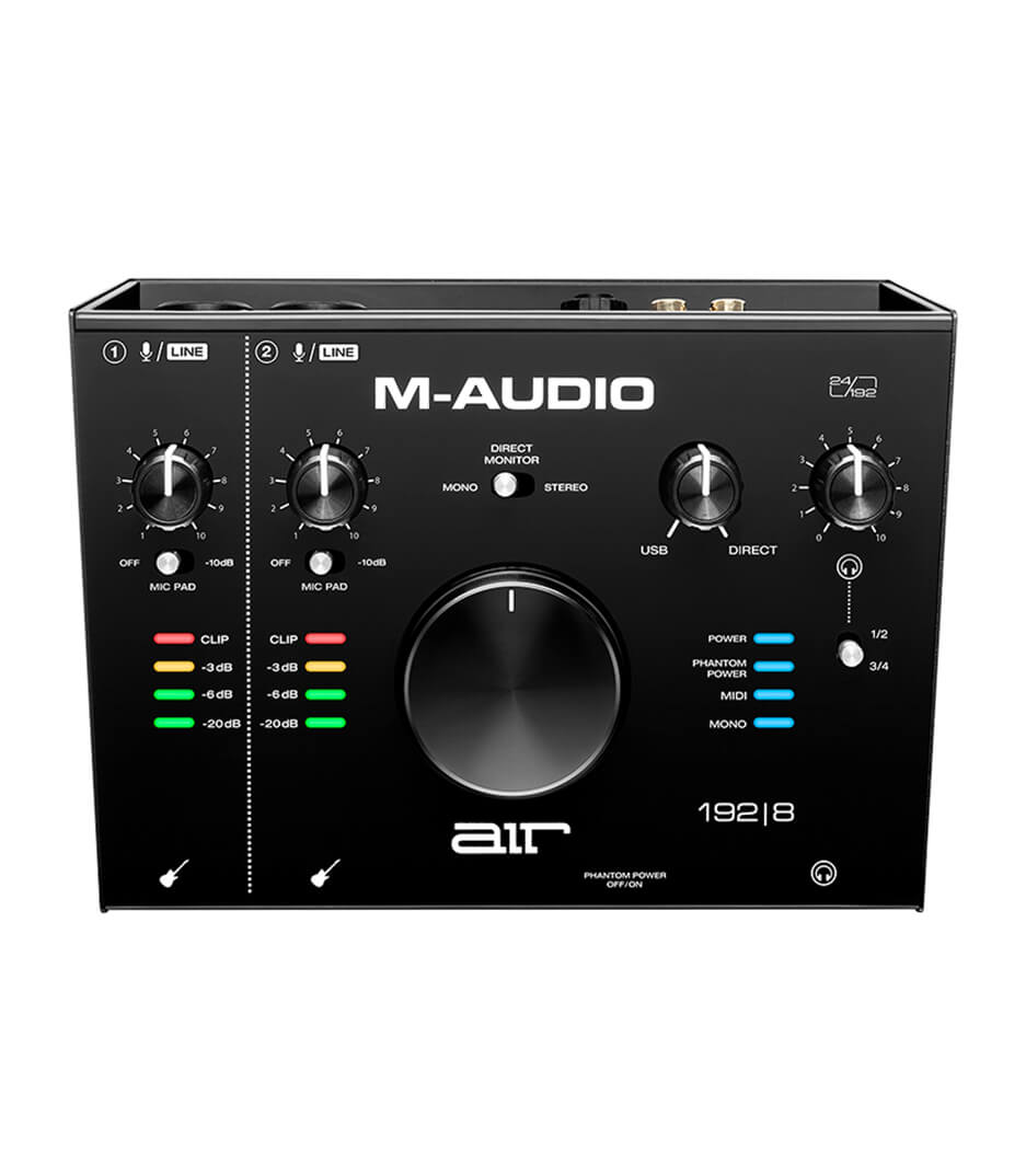 M-Audio - AIR192X8 2 In 4 Out USB Audio MIDI IO w 2 Mic Ins