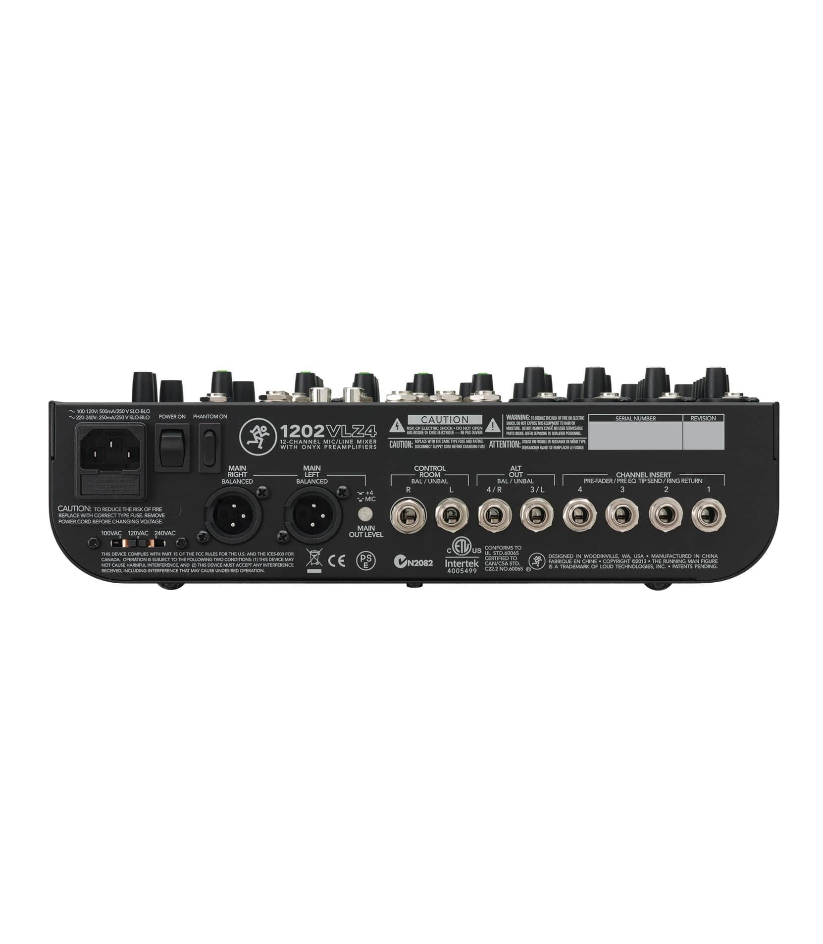 1202VLZ4 12 channel Compact Mixer - Buy Online