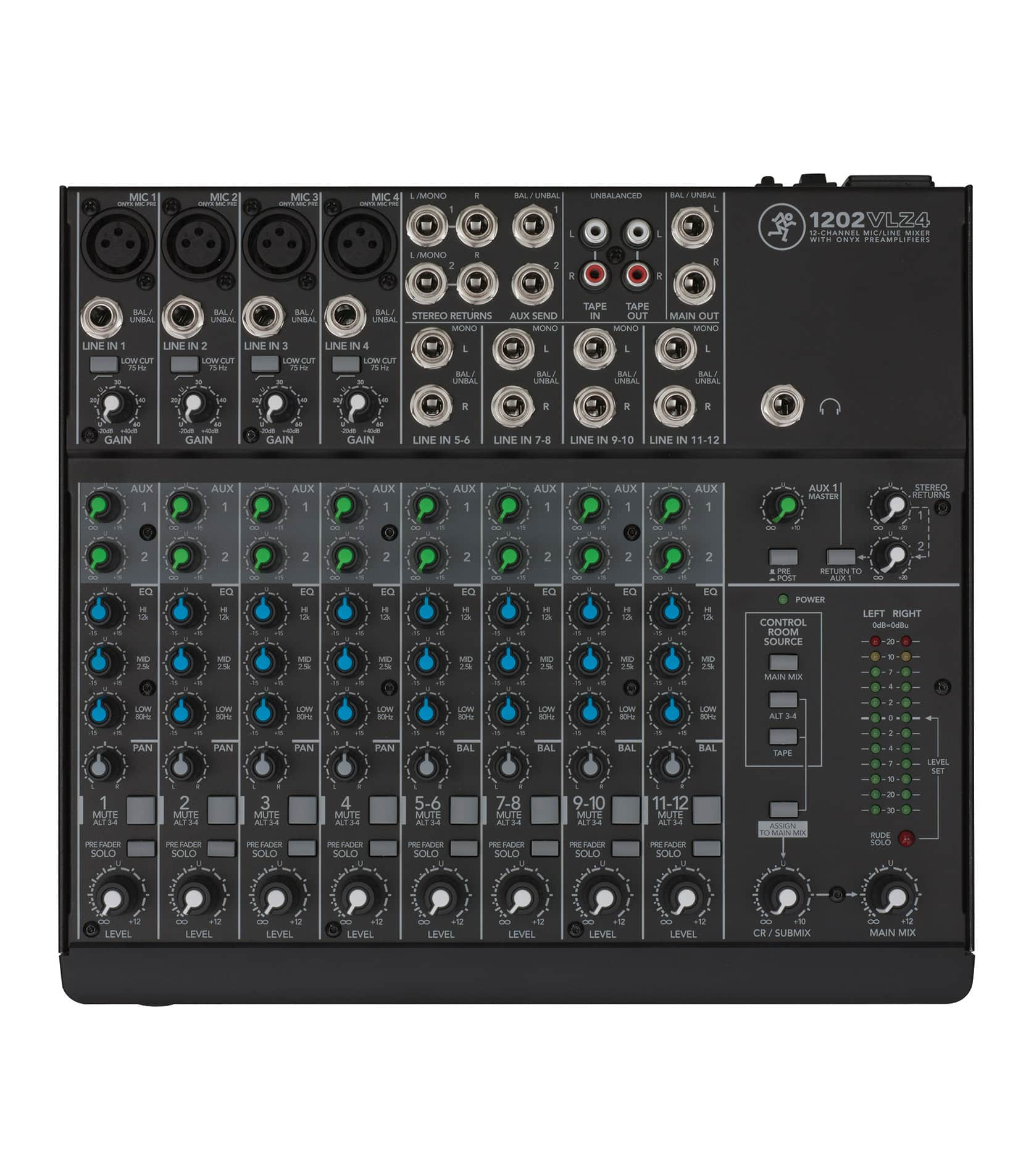 buy mackie 1202vlz4 12 channel compact analog mixer