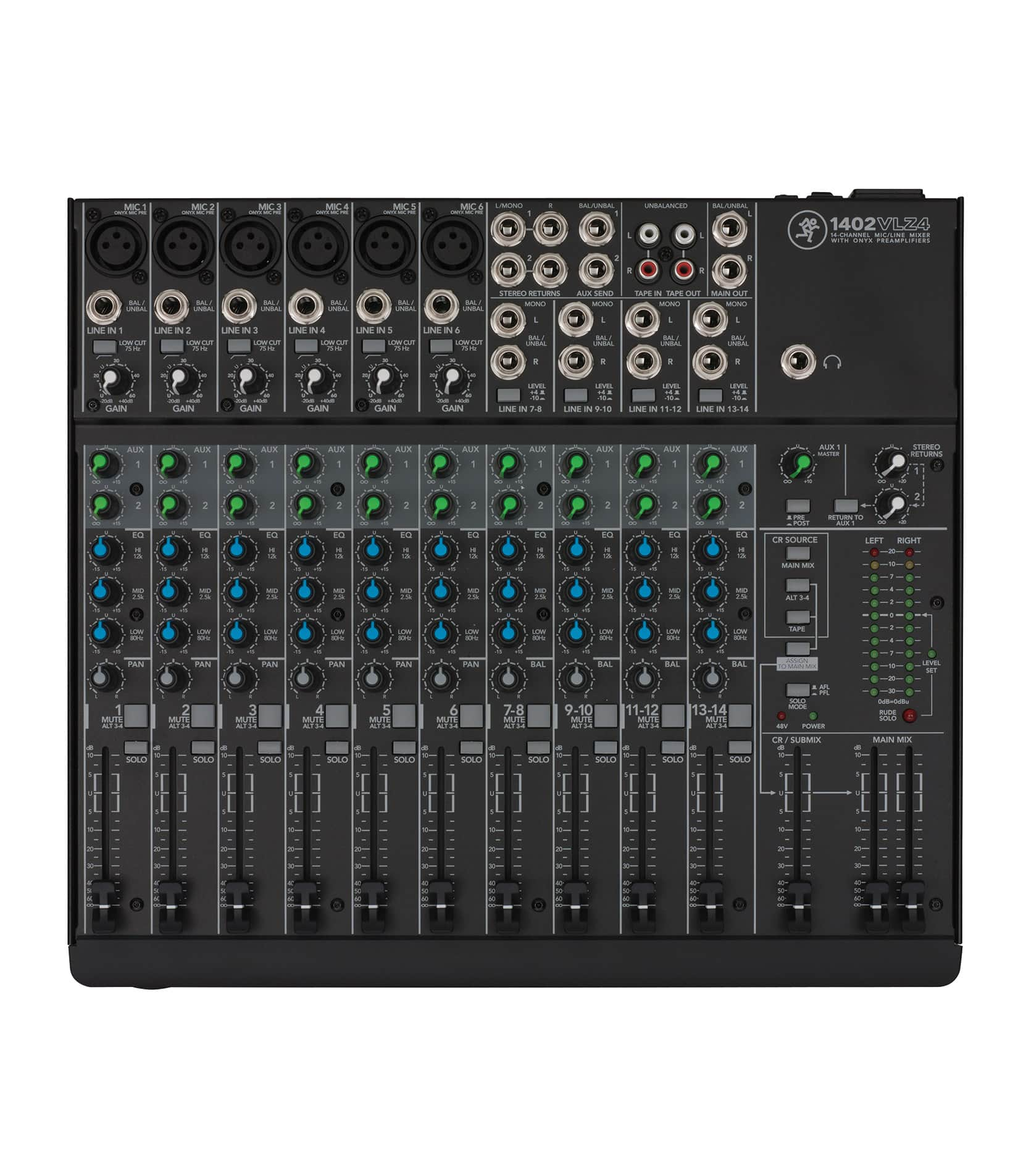 buy mackie 1402vlz4 14 channel compact analog mixer