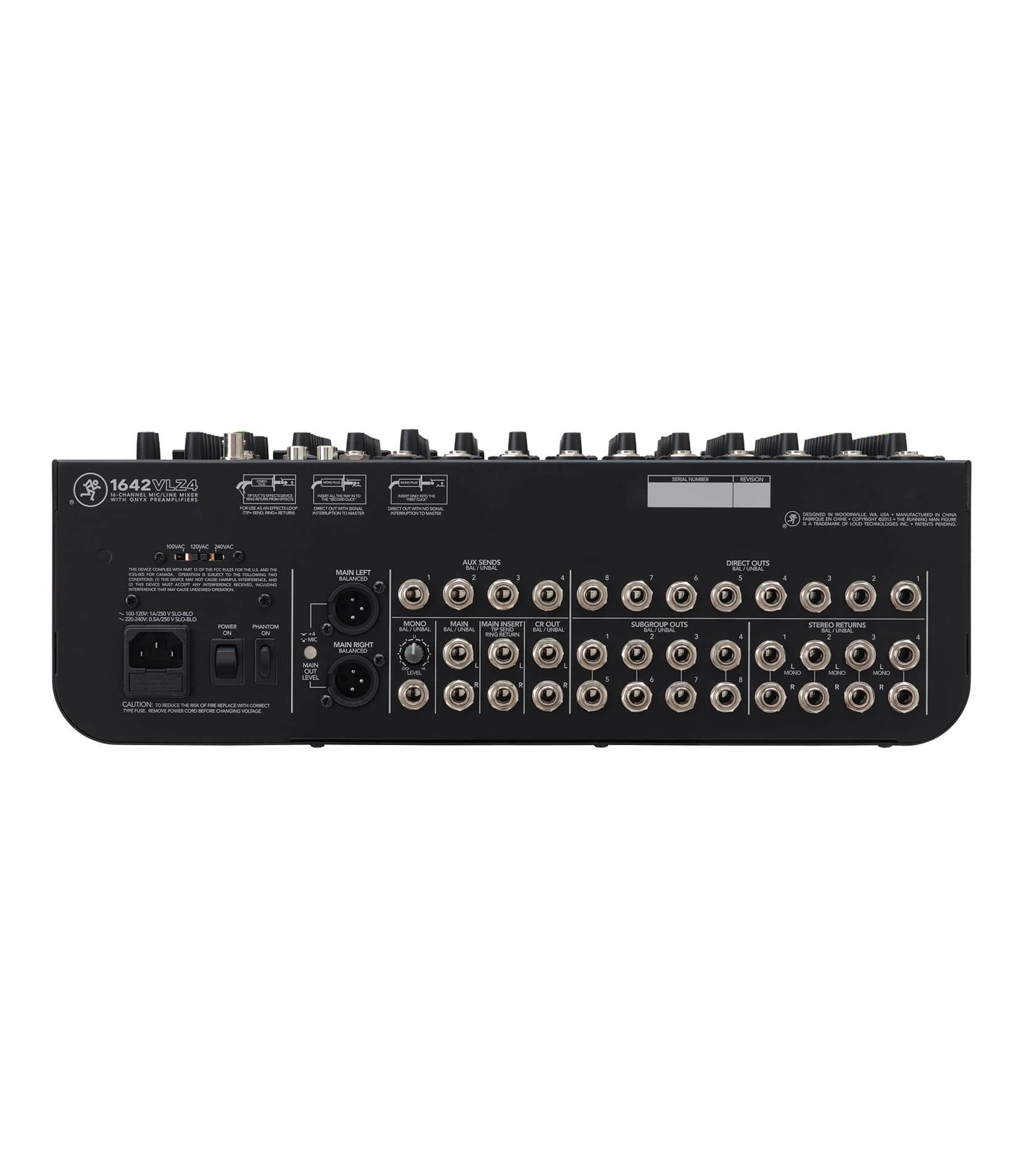 1642VLZ4 16 Channel Compact 4 bus Mixer - Buy Online