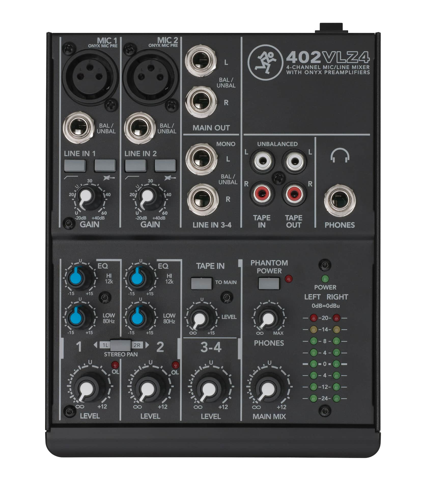 402VLZ4 4 channel Ultra Compact Mixer