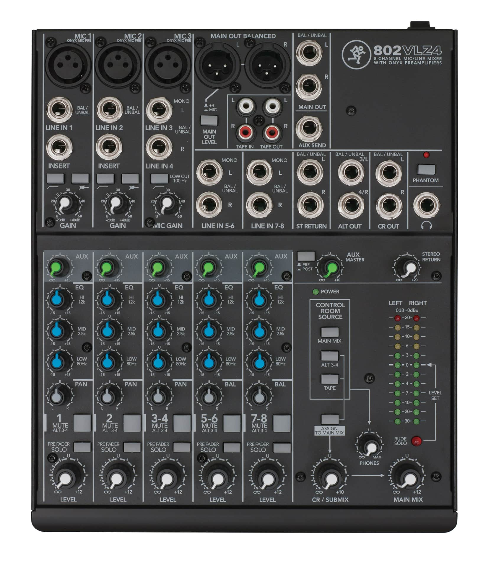 802VLZ4 8 channel Ultra Compact Mixer
