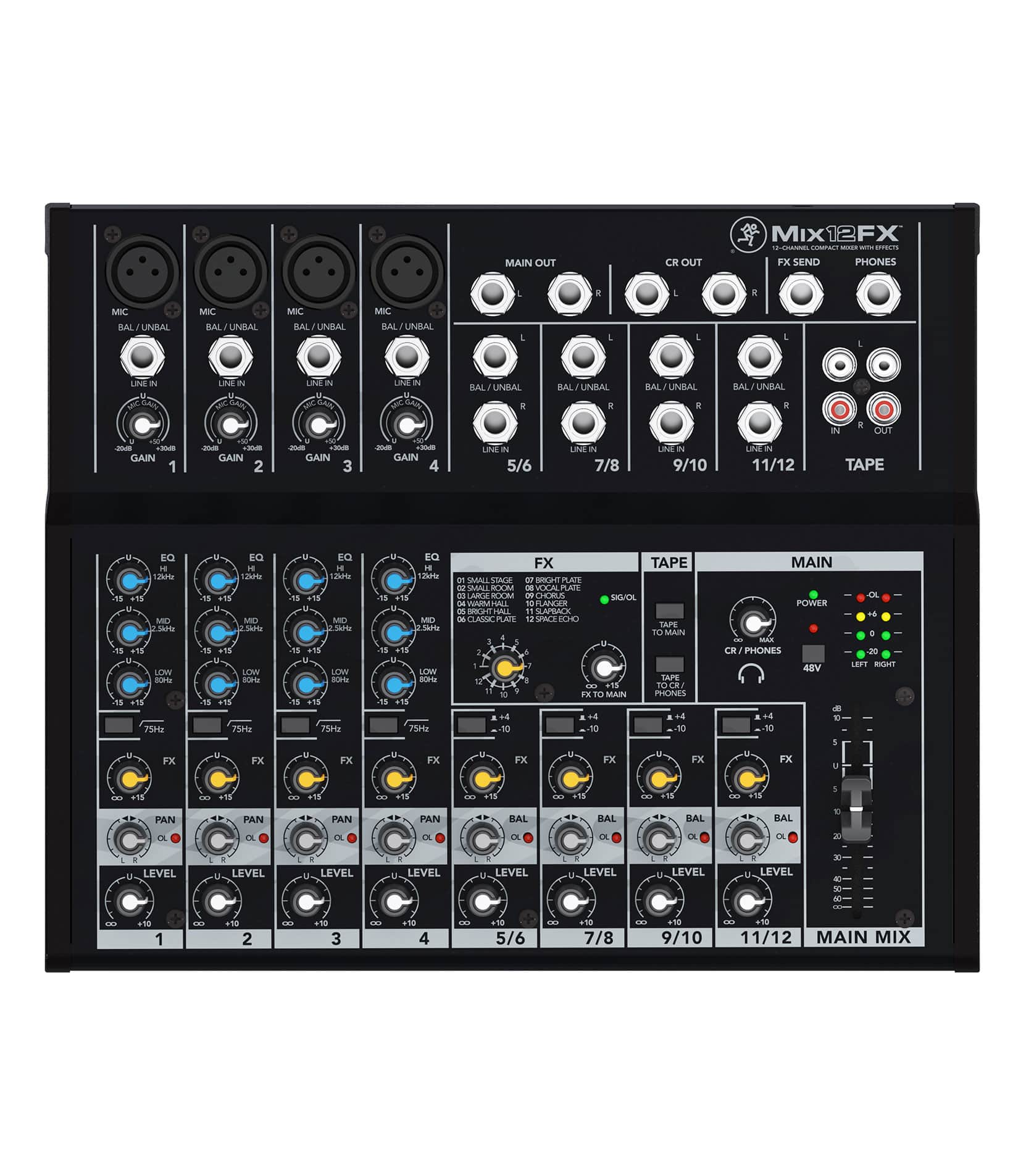 Mix12FX UK 12 channel Compact Mixer w FX