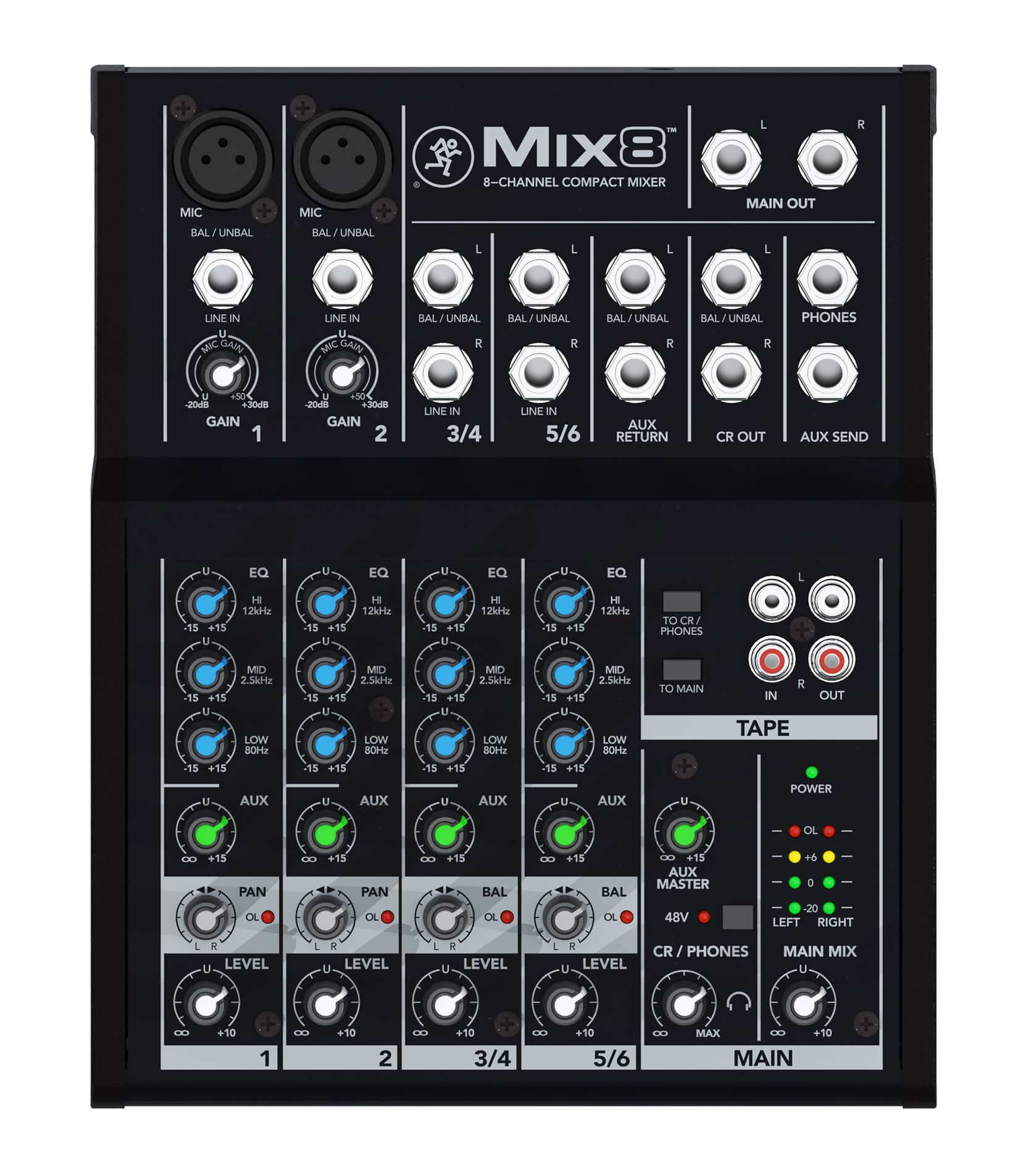 Buy Mackie Mix8     8 Channel Compact Mixer Melody House