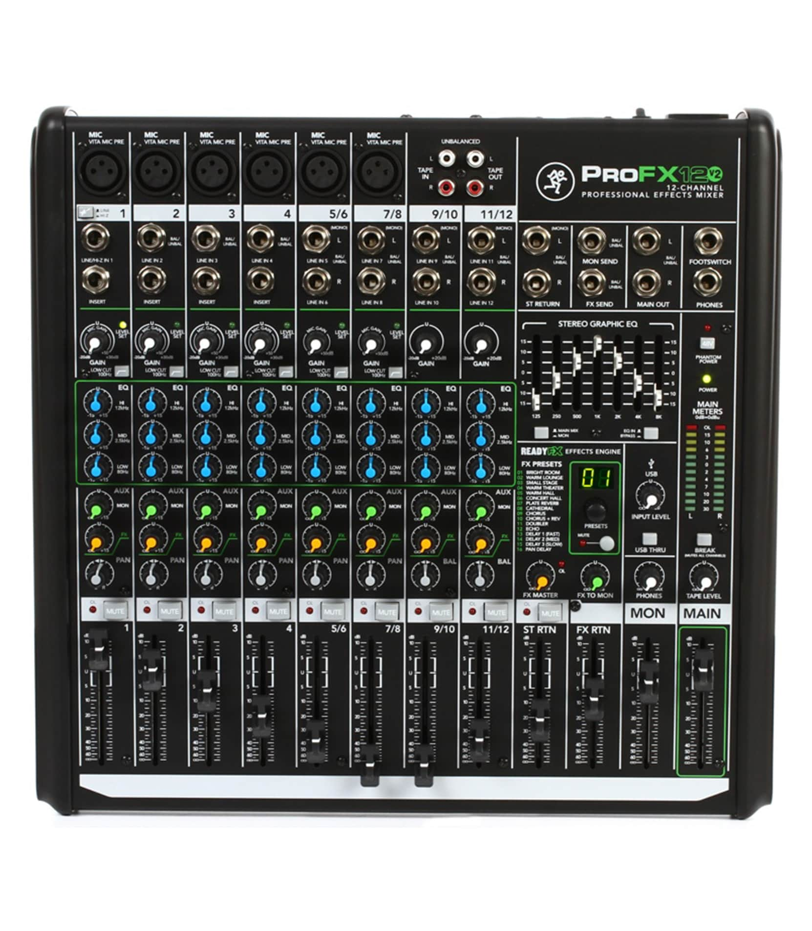 Buy Mackie ProFX12v2 UK 12channel Professional Effects Mixer Melody House